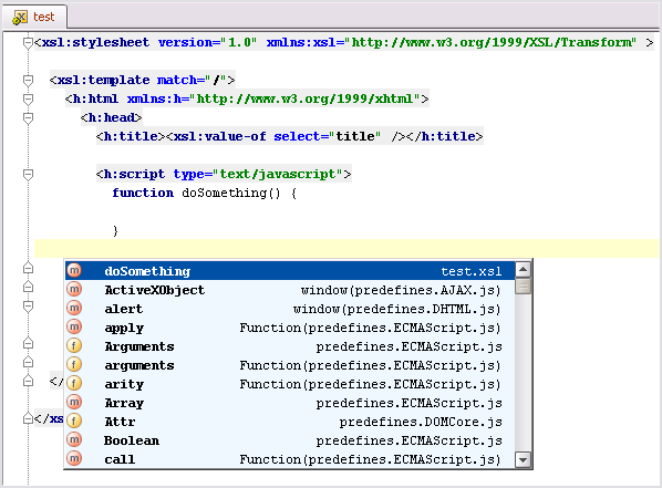 Thumb xslt javascript