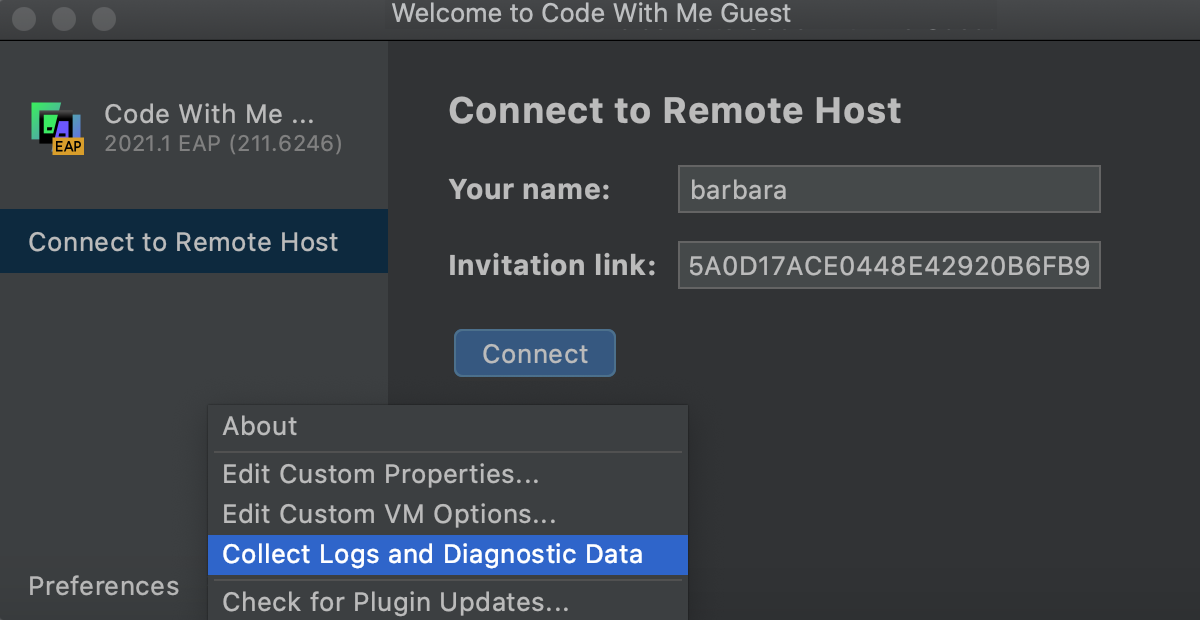 Collect Logs and Diagnostic Data