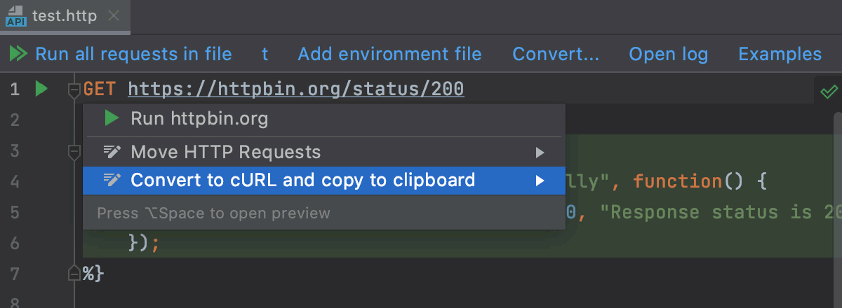 Convert HTTP request to cURL