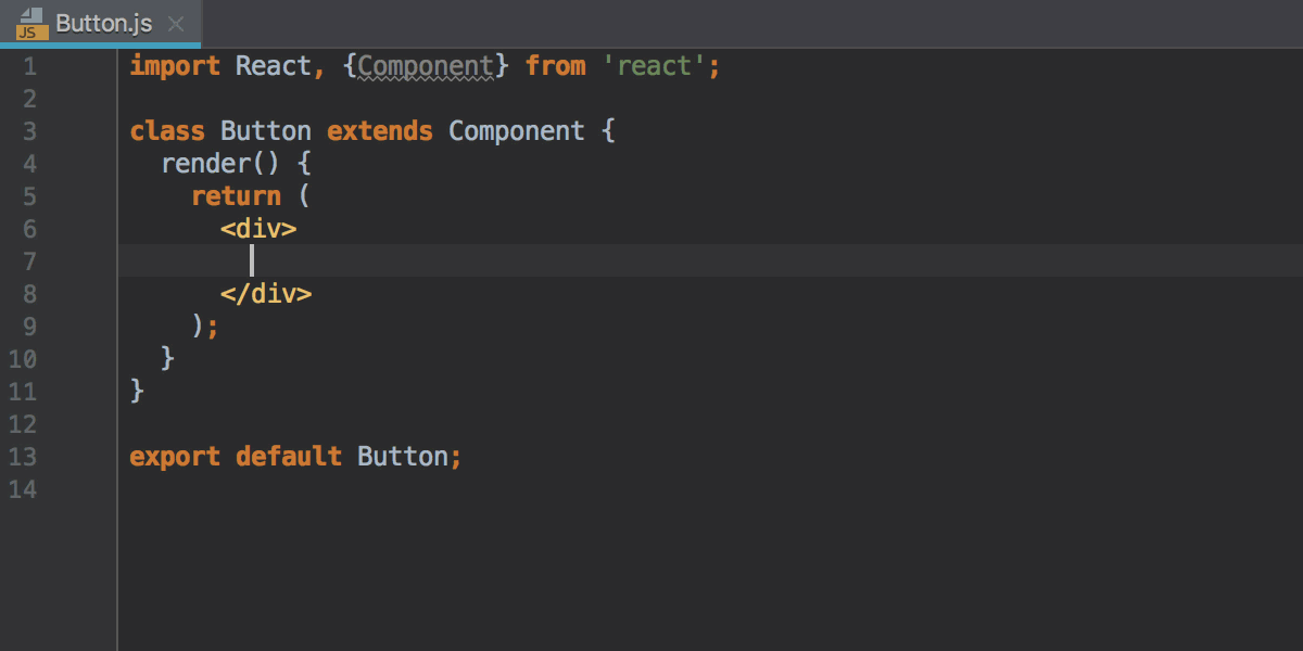Custom postfix template in action: creating a clss for a React component