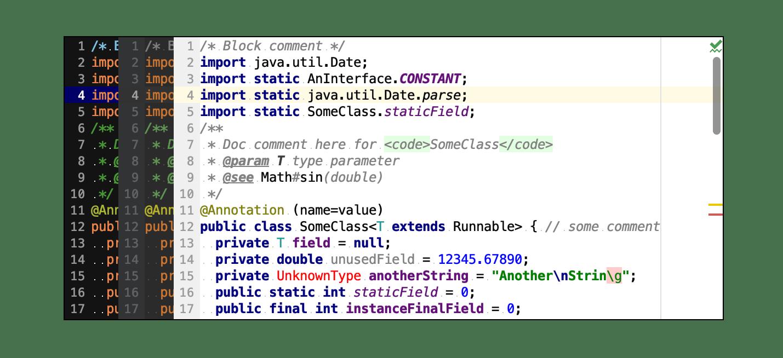Default color schemes for Java