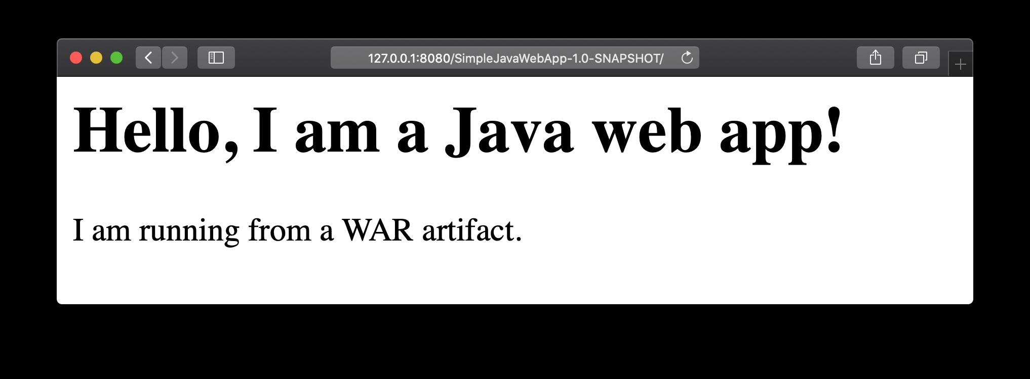 Simple Java Web App Demo page