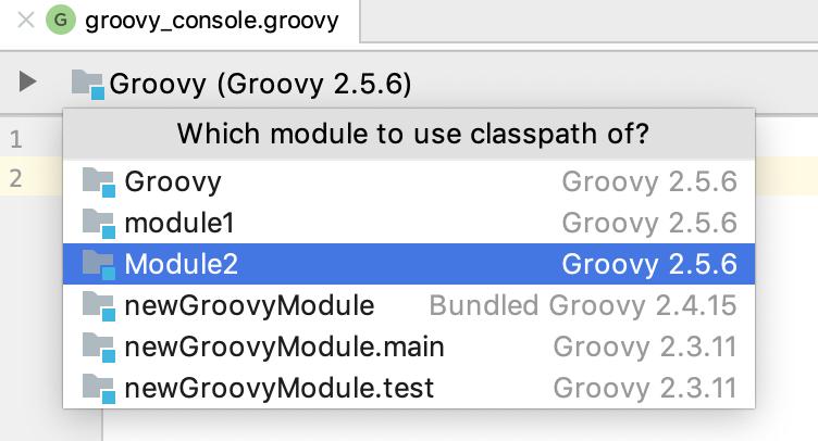 Groovy module console
