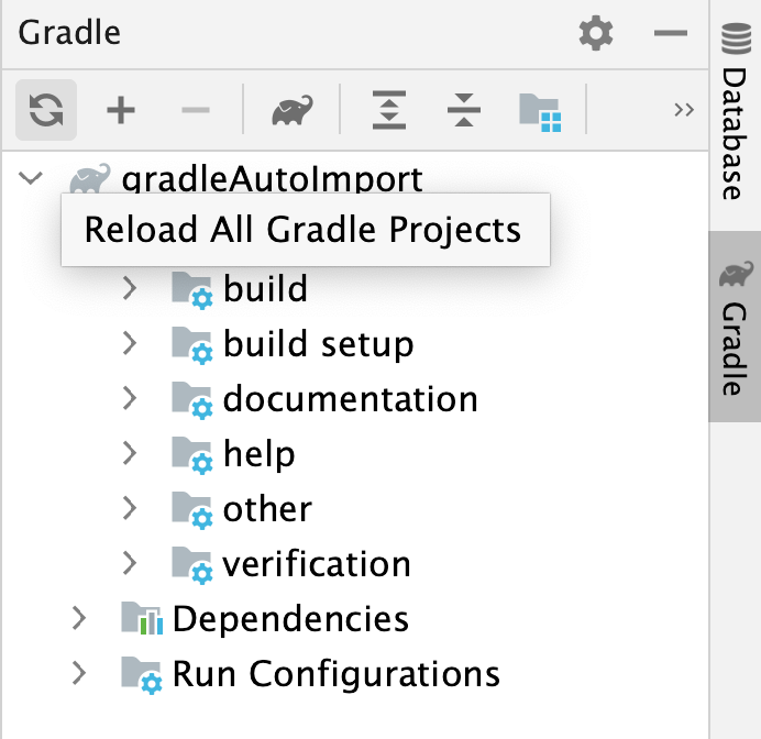 Reload All Gradle Projects