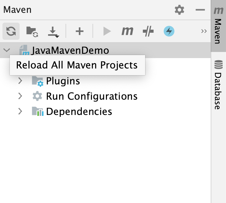 Reload All Maven Projects