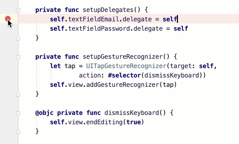 Breakpoints in AppCode