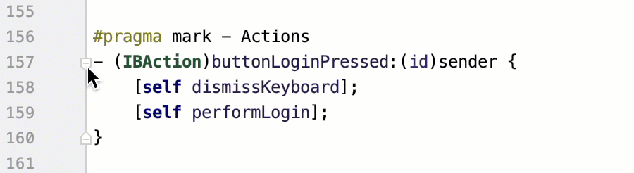 Code folding