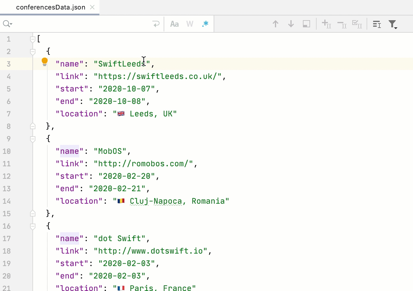Escape regex special characters copied fromm the editor