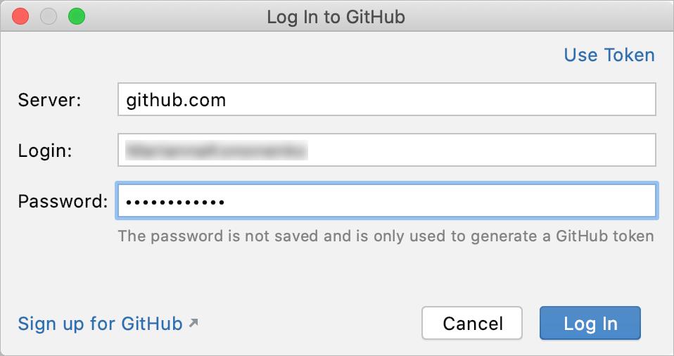 Log in to GitHub