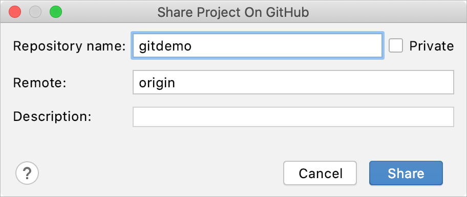 GitHub repository settings