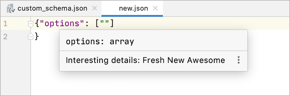 No formatting in documentation for JSON schema definitions with description property