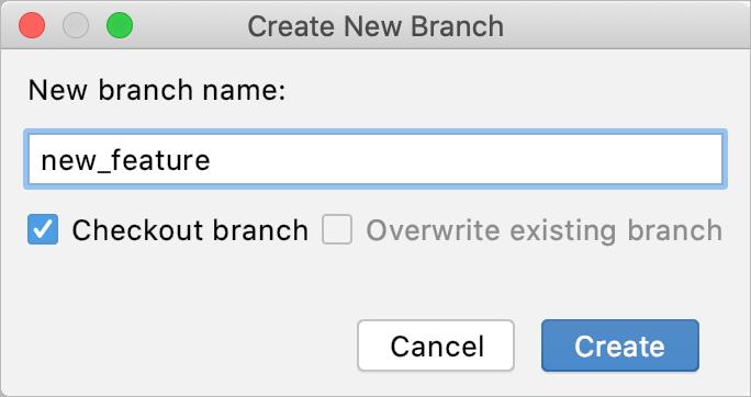 New Git branch