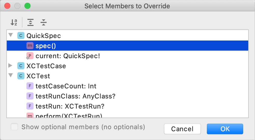 Override methods
