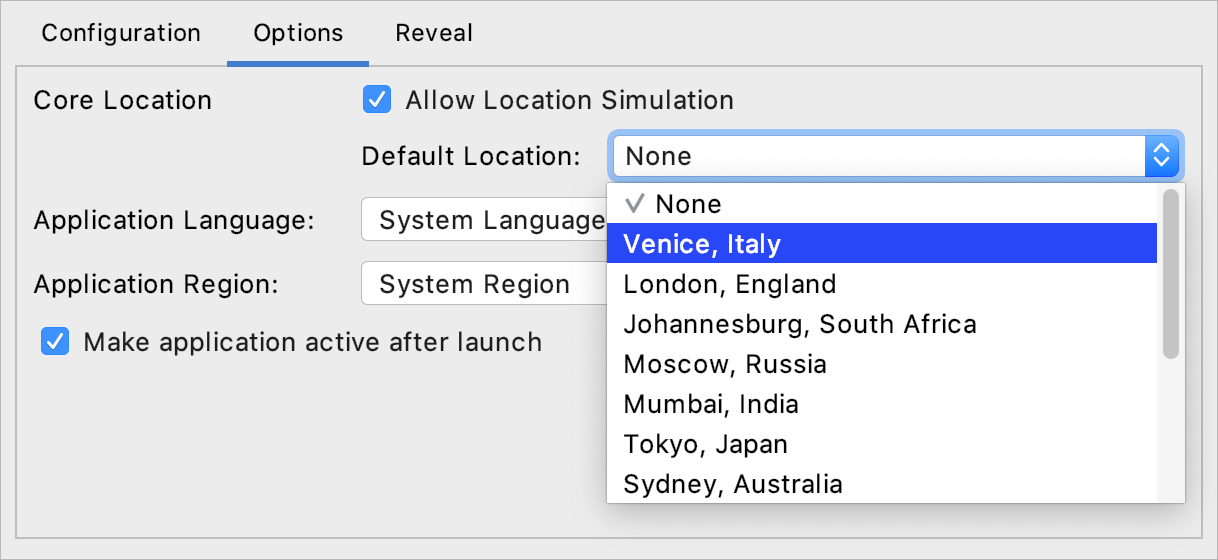 Select a location from the GPX file