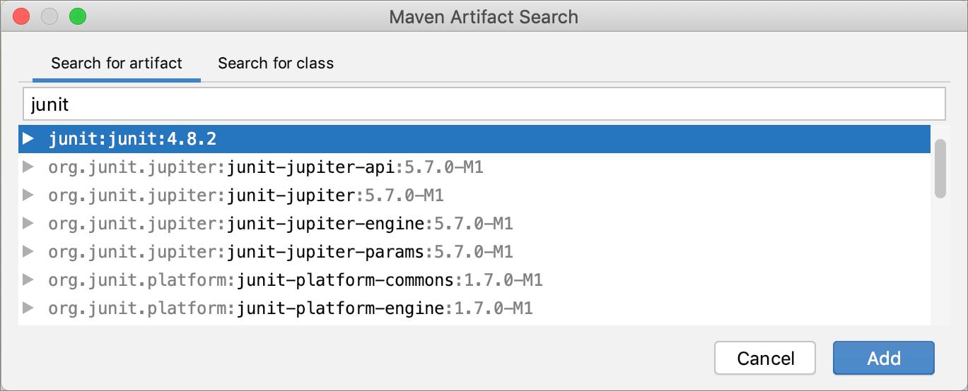 Adding a Maven dependency