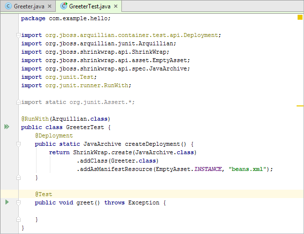 Arq12editor greeter test