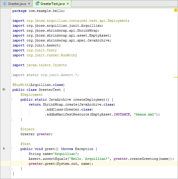 Arq14editor greeter test complete