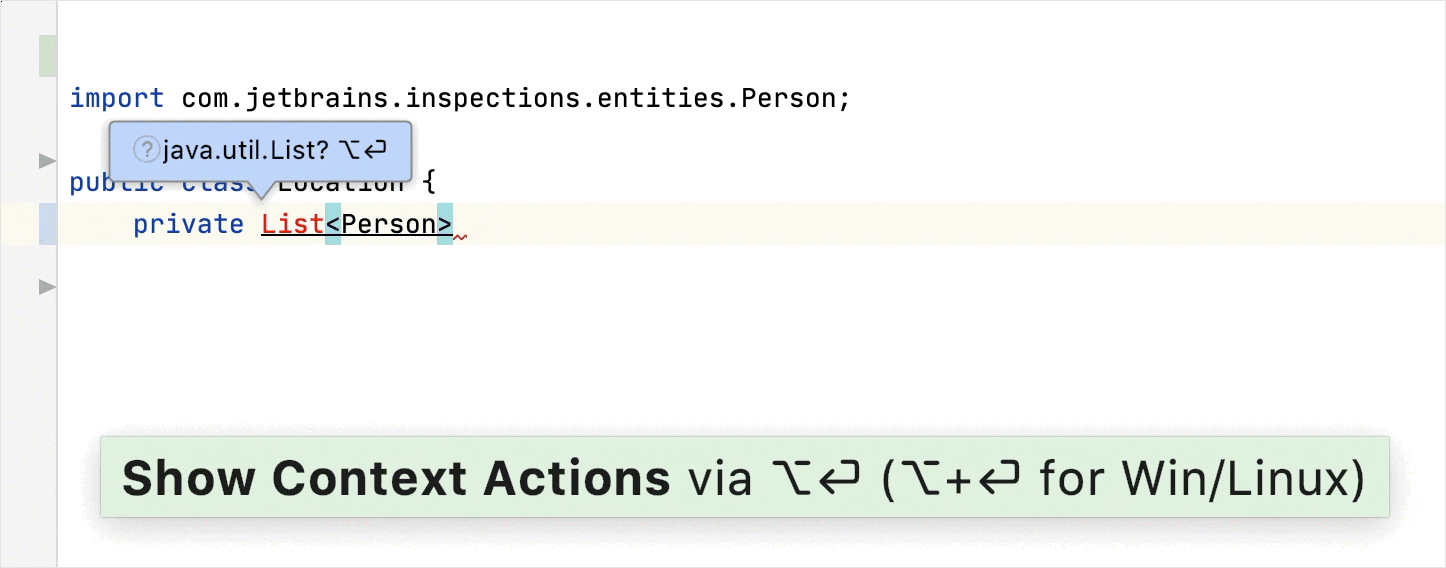 the auto-import tooltip