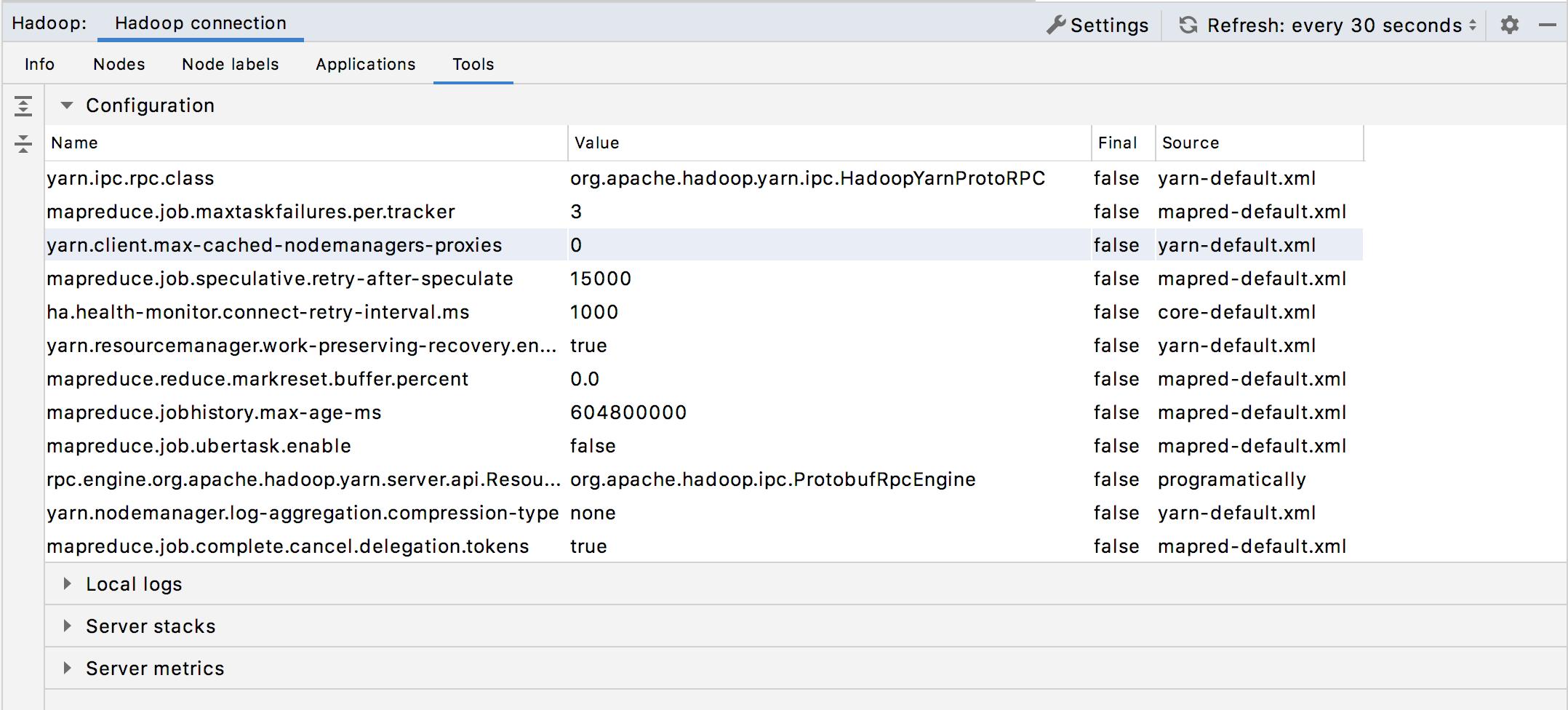 Hadoop monitoring: Tools