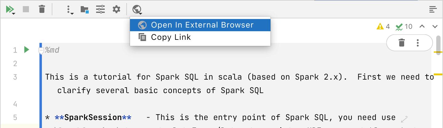 Open notebook in the external browser