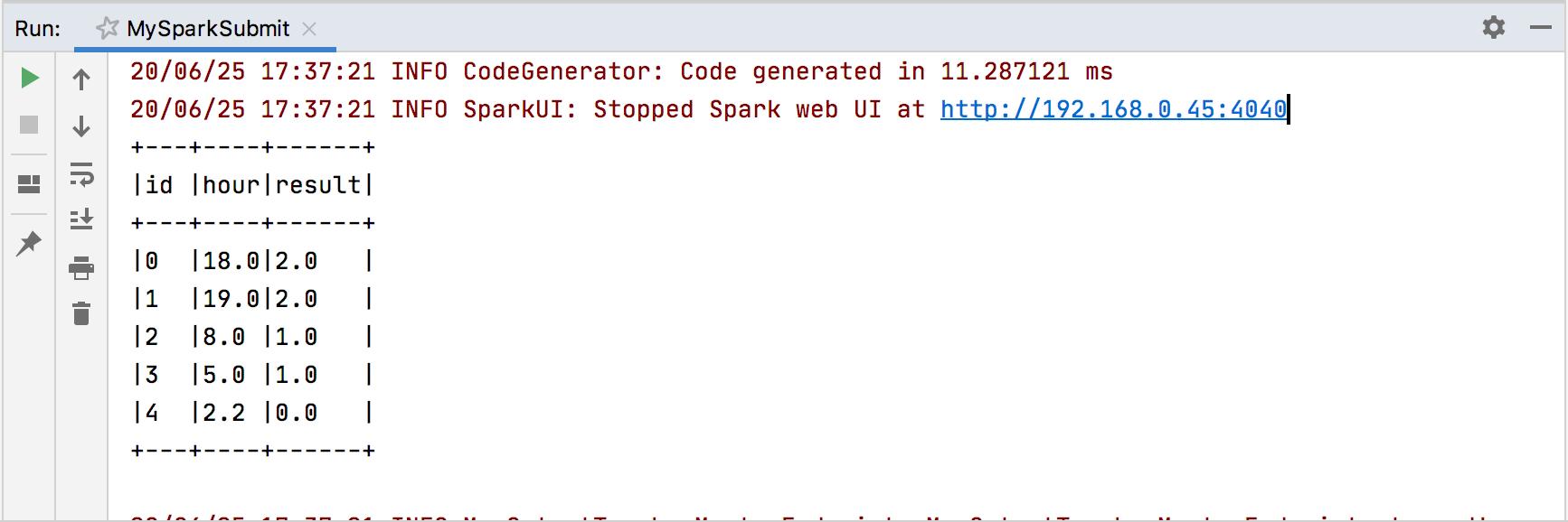 Running a Spark applicaion