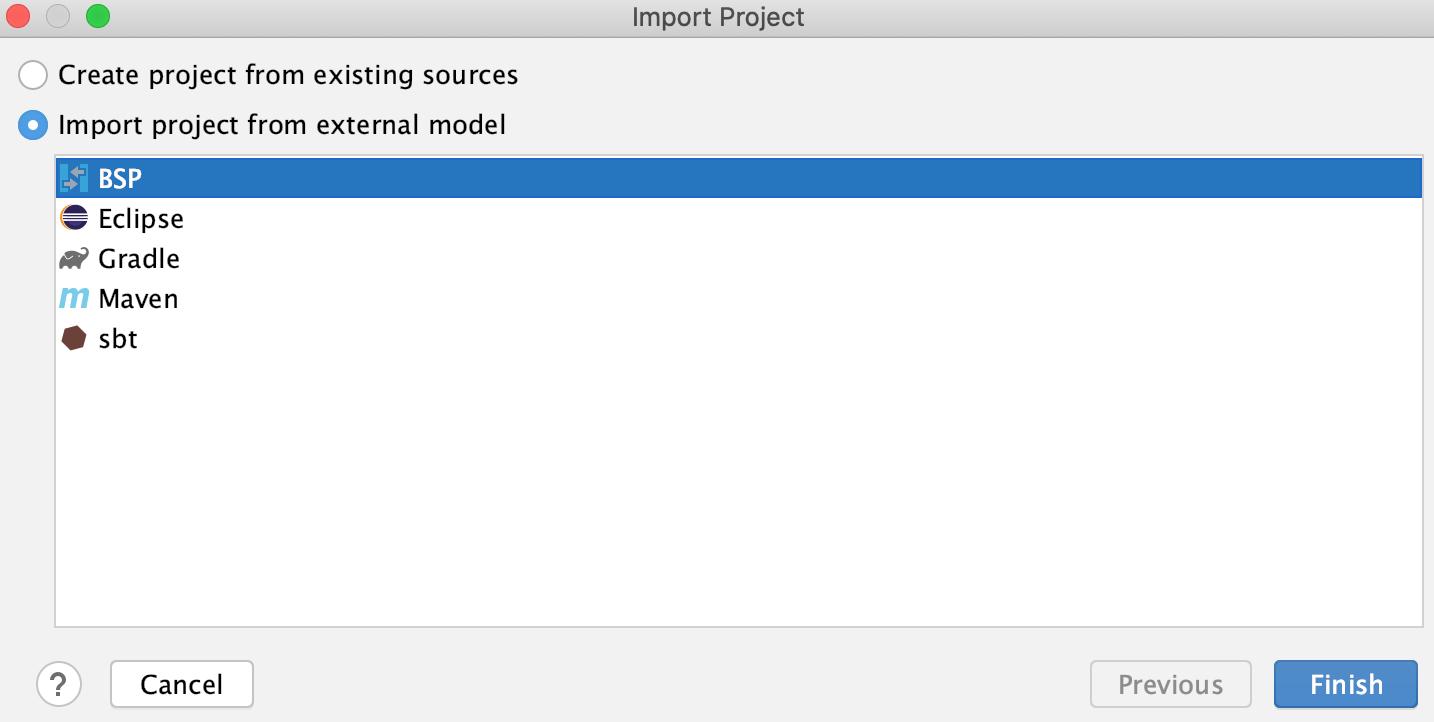 The BSP import model