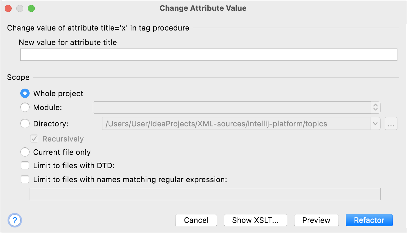 Changing value of an attribute