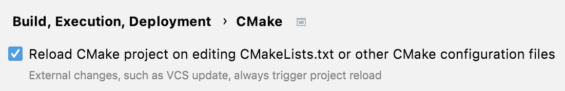 CMake profiles auto-reload
