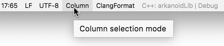 Column mode