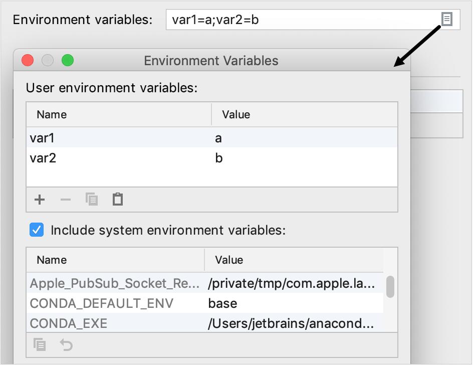 adding environment variables
