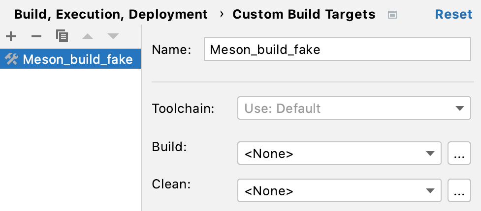 Creating a fake custom build target