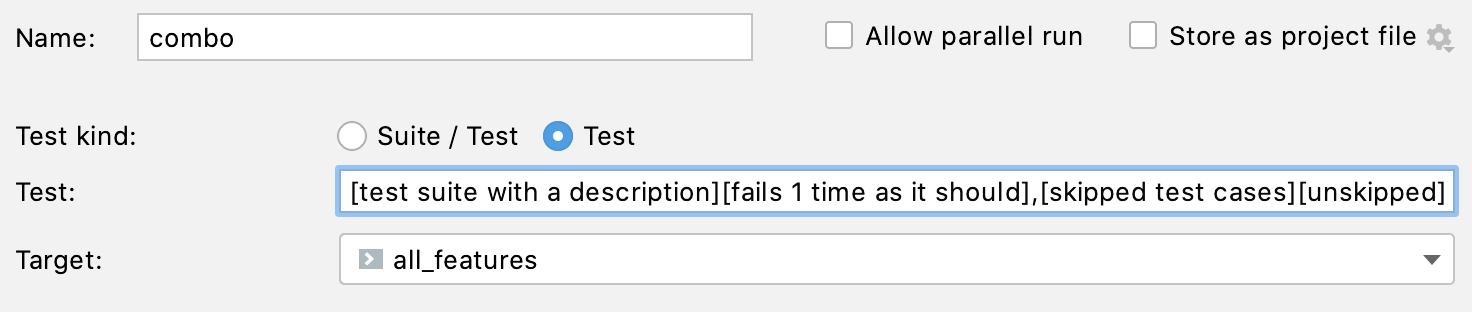 Pattern for a Doctest configuration
