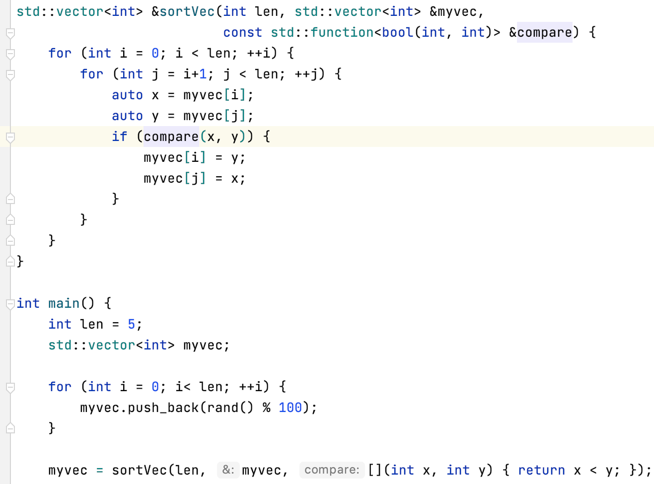 The result of Extract Lambda Parameter