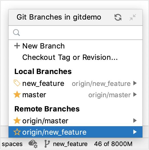 Remote Git branch
