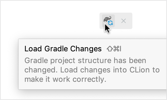 Editor popup for reloading the project
