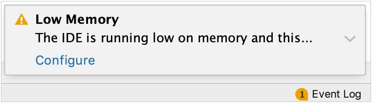 low memory warning message