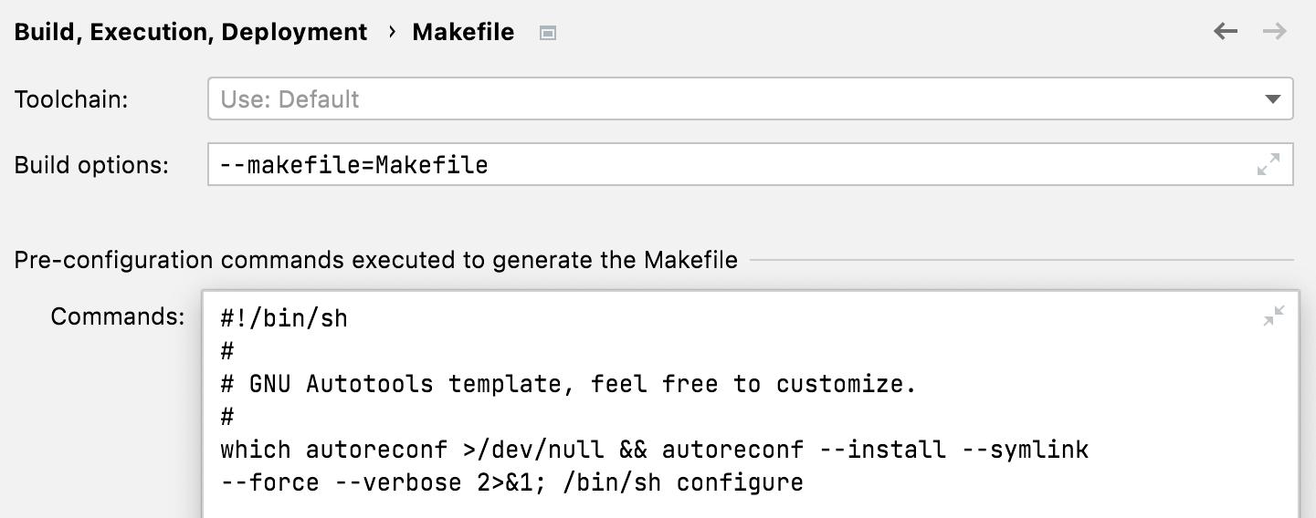 Pre-configuration commands