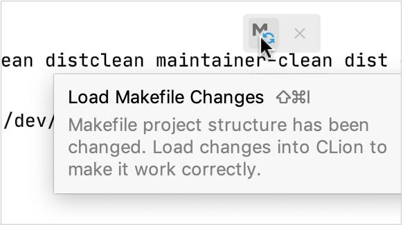 Makefile reload notification