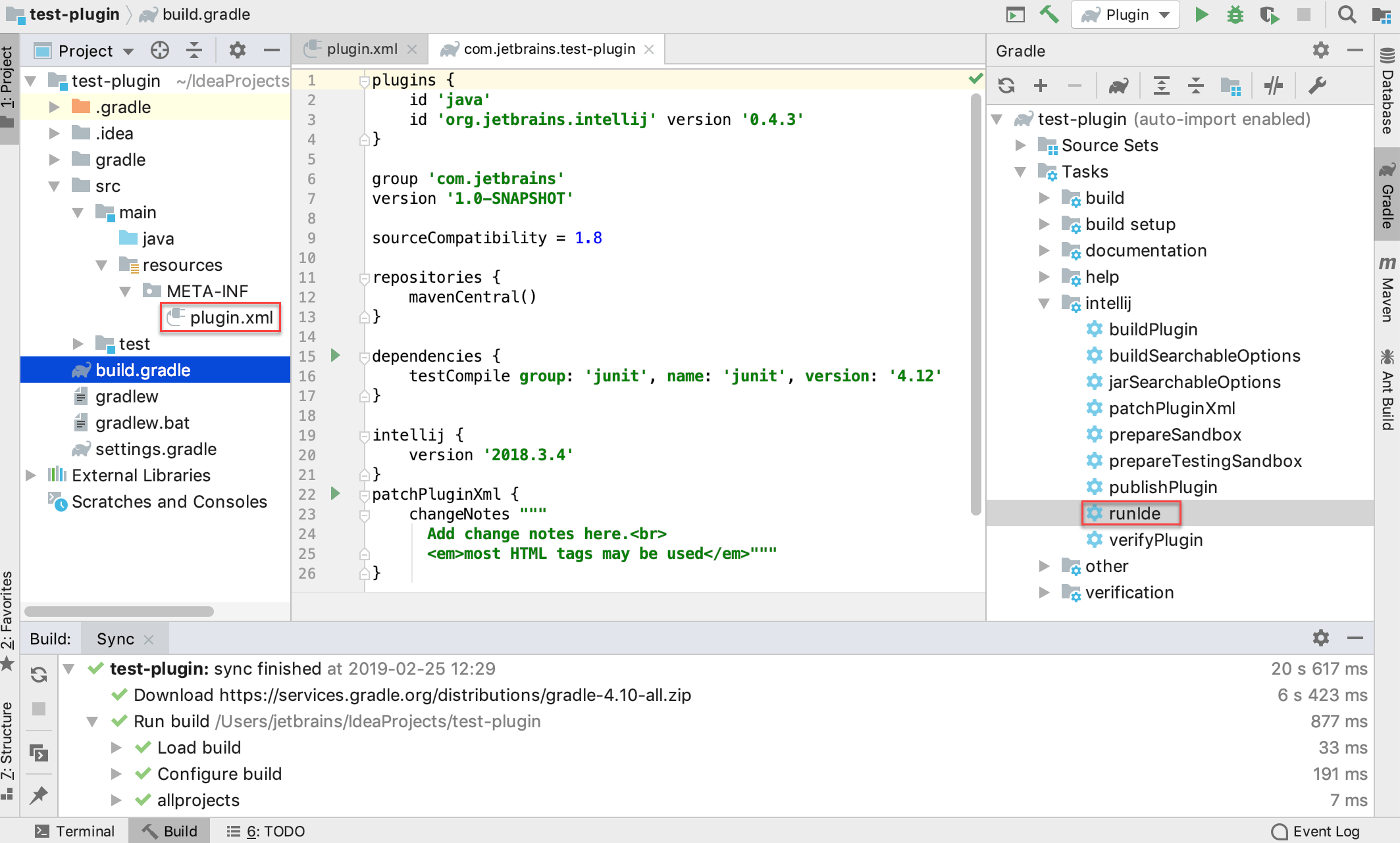 template plugin project