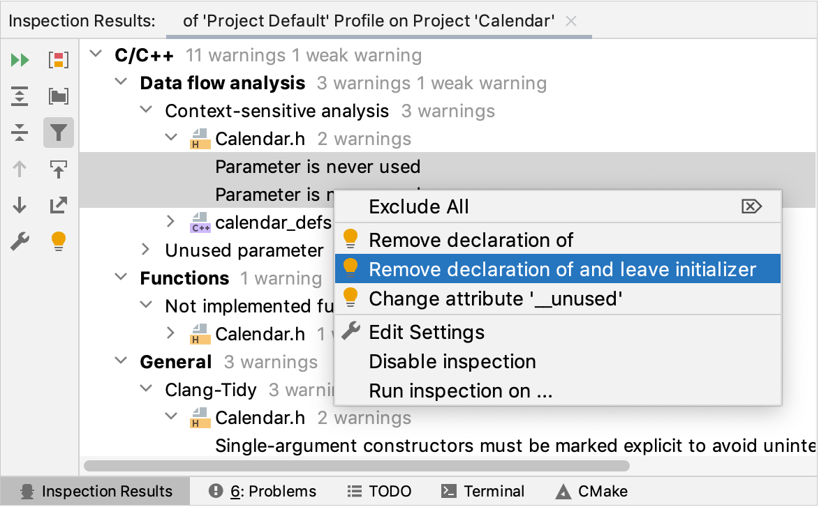 Quick-fixes for several issues at a time