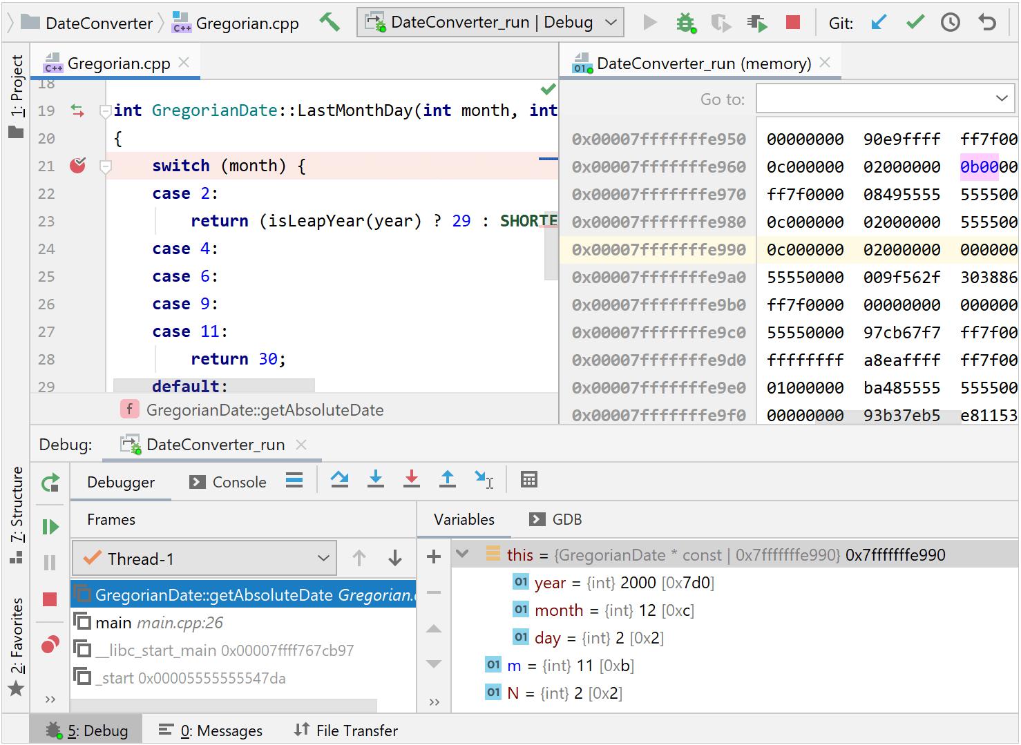 debugging with remote GDB server