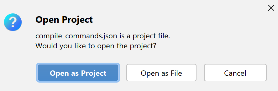 Open compDB as project