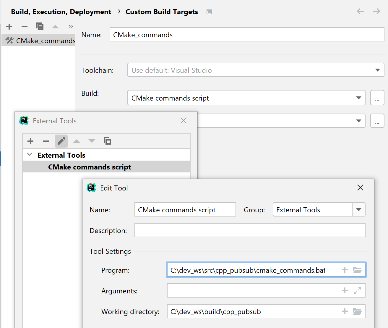 Creating a custom build target for CMake commands