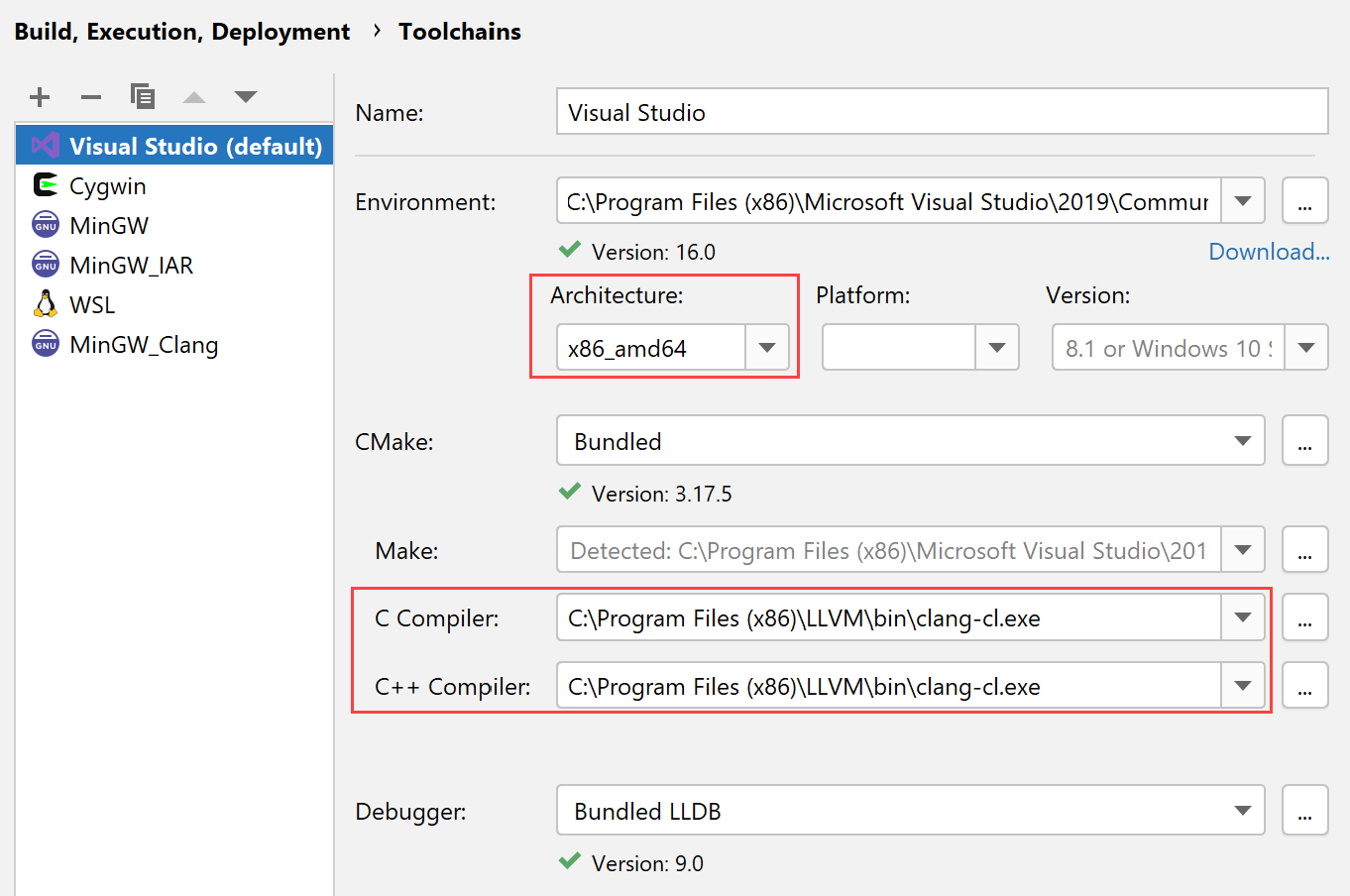 MSVC toolchain with clang-cl