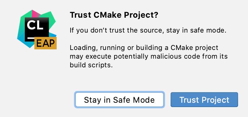Cl trust cmake load