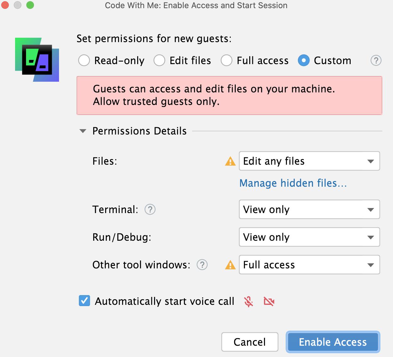 Custom permissions
