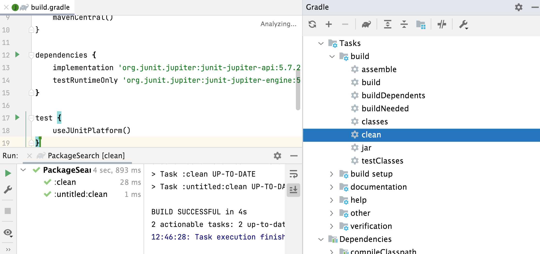 the Gradle tool window Code With Me Guest