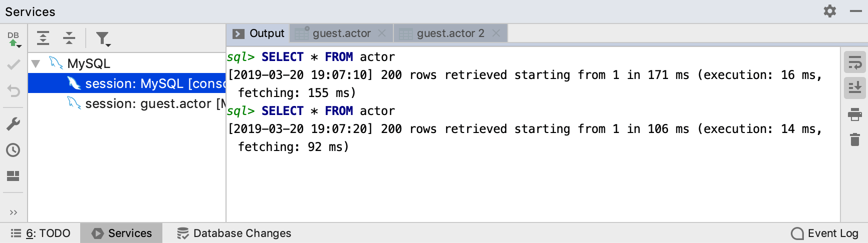 View query log