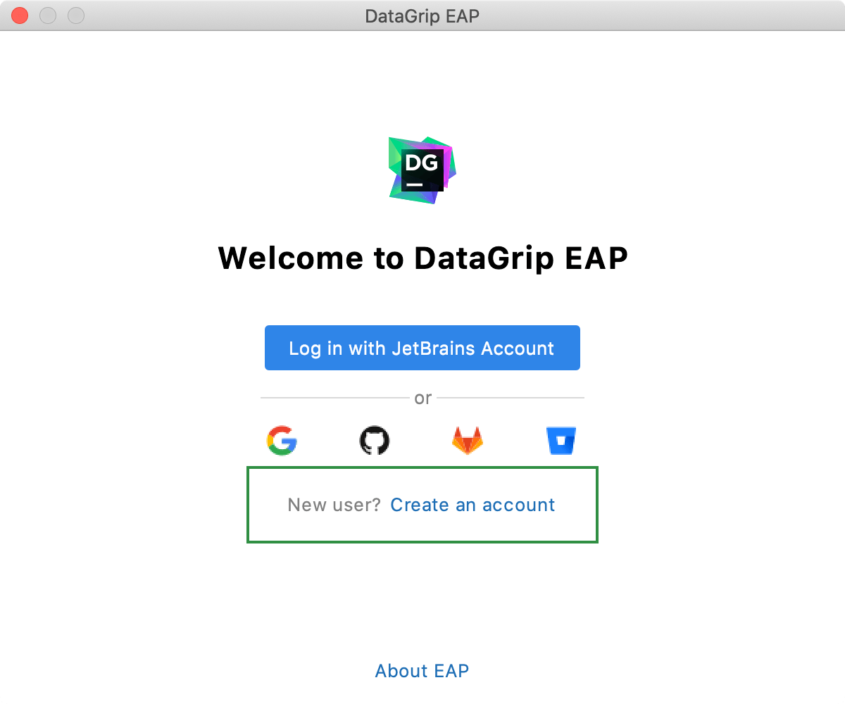 Login with a new account