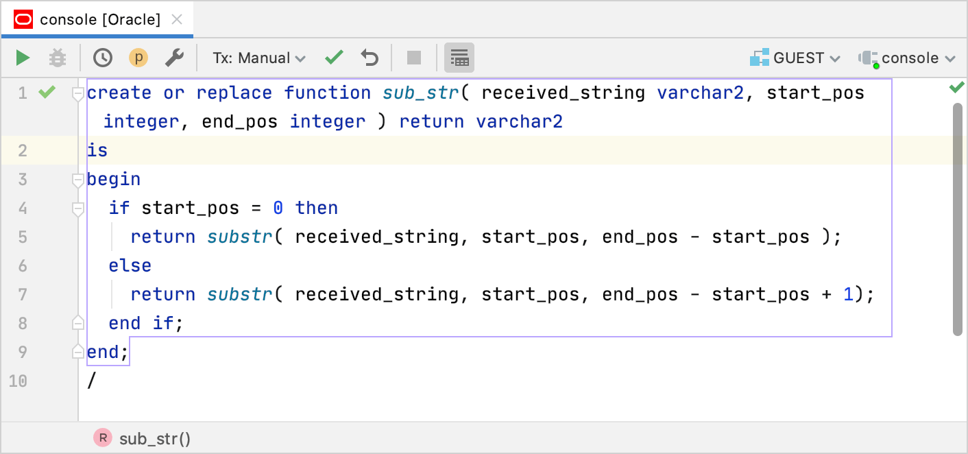 Create a function to be tested